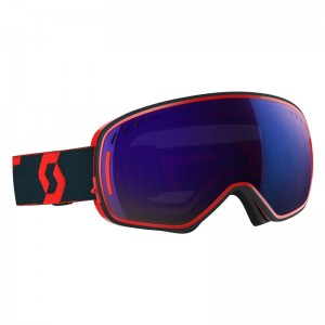 Ochelari Schi si Snowboard Scott LCG Red / Blue / Solar Blue Chrome + Illuminator Blue Chrome