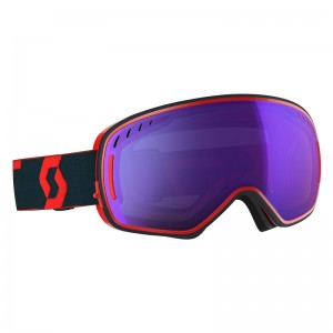Ochelari Schi si Snowboard Scott LCG Red / Blue / Light Sensitive Blue Chrome + Illuminator Blue Chrome