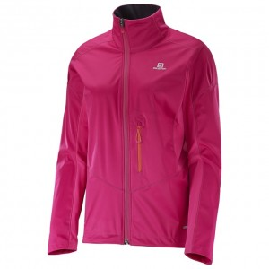 Geaca schi fond Salomon Lighting Softshell Jkt W Roz