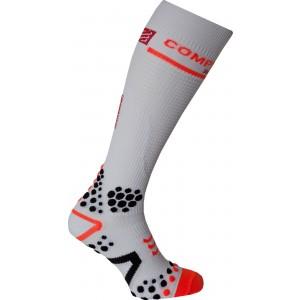 Sosete compresie Compressport Full Socks V2 White