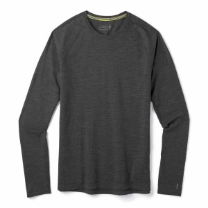 Bluza Barbati Multisport Smartwool Merino 150 Base Layer Long Sleve Bxd Iron Heather (Antracit)