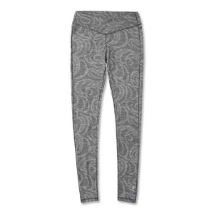 Pantaloni First Layer Femei Smartwool Merino 250 Base Layer Pattern Black Snow Swirl (Gri)