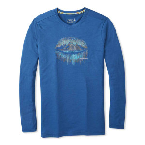 Bluza First Layer Barbati Smartwool Merino Sport 150 Mountain Ls Tee Alpine Blue (Albastru)