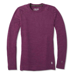 Bluza First Layer Femei Smartwool Merino 250 Base Layer Crew Sangria H (Roz)
