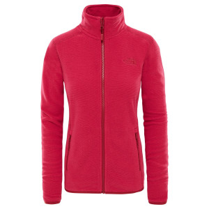 Polar Femei The North Face 100 Glacier Full Zip Rosu