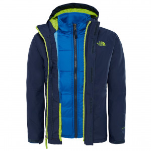 Geaca Baieti Ski si Snowboard The North Face Boundary Triclimate Indigo / Lime