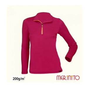 Tricou Merinito Sport Zip 100% Merinos 200g W Mov
