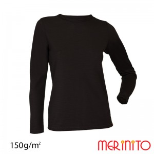Bluza First Layer Femei Merinito Neagra