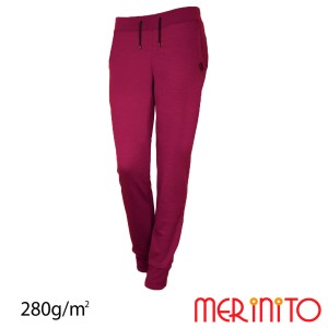 Pantaloni Femei Merinito Jogger 280G 100% Lana Merinos Mov