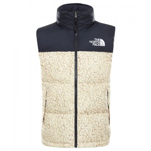 Vesta Puf Barbati The North Face 1996 Retro Nuptse Vest Tnf White Sherpa Print (Crem)