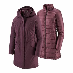 Haina Femei Patagonia Vosque 3-in-1 Parka Light Balsamic  (Visiniu)
