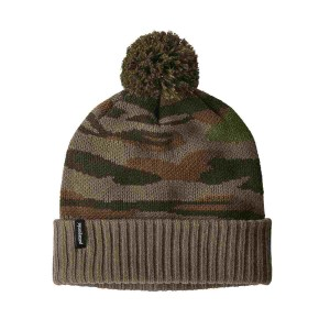 Caciula Patagonia Powder Town Beanie Bear Witness Knit / Sage Khaki (Multicolor)