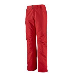 Pantaloni Ski Barbati Patagonia Insulated Powder Bowl Pants Fire  (Rosu)