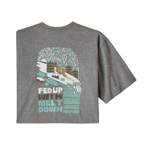 Tricou Barbati Patagonia Fed Up With Melt Down Responsibili-Tee Gravel Heather  (Gri)
