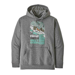 Hanorac Barbati Patagonia Fed Up With Melt Down Uprisal Hoody Gravel Heather  (Gri)