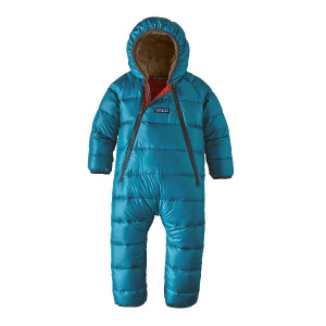 Combinezon Ski Copii 0-5 ani Patagonia Infant Hi-Loft Down Sweater Bunting Balkan Blue (Albastru)
