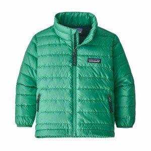 Geaca Puf Copii 0-5 ani Patagonia Baby Down Sweater Plains Green (Verde)
