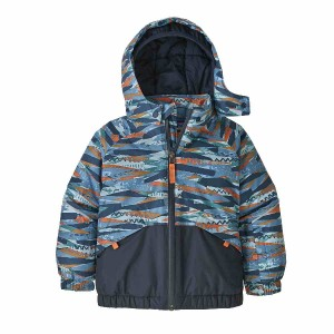 Geaca Ski Copii 0-5 ani Patagonia Baby Snow Pile Play Stripe / Woolly Blue (Multicolor)