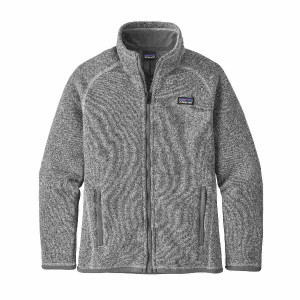 Polar Copii 5-14 ani Patagonia Girls' Better Sweater Birch White (Alb)