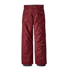 Pantaloni Ski Copii 5-14 ani Patagonia Boys' Snowshot Pants Oxide Red (Rosu)