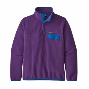 Polar Drumetie Femei Patagonia Lightweight Synch Snap-T Pull Over Purple (Mov)