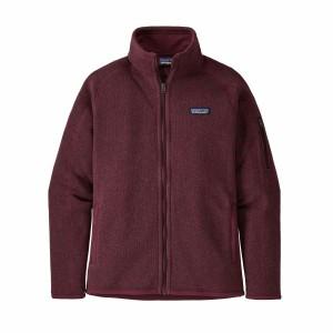 Polar Drumetie Femei Patagonia Better Sweater Jkt Chicory Red (Visiniu)