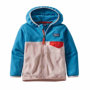 Hanorac Copii Patagonia Baby Micro D Snap-T Jkt Seafan Pink (Multicolor)
