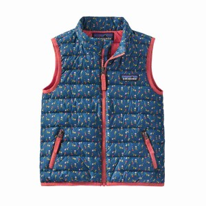 Vesta Copii Patagonia Baby Down Sweater Vest Slow Dance: Crater Blue (Multicolor)