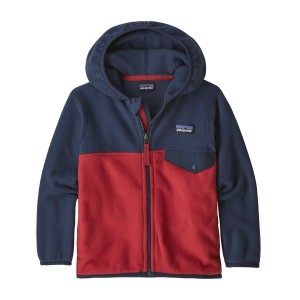 Hanorac Copii Patagonia Baby Micro D Snap-T Jkt Fire w/New Navy (Multicolor)