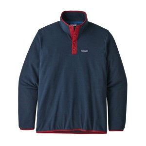 Polar Drumetie Barbati Patagonia Micro D Snap-T Pull Over New Navy w/Classic Red (Bleumarin)