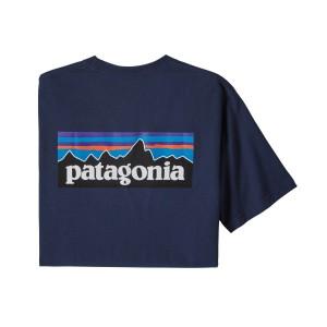 Tricou Drumetie Barbati Patagonia P-6 Logo Responsibili-Tee Classic Navy (Bleumarin)