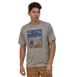 Tricou Barbati Patagonia Capilene Cool Daily Graphic Shirt Summit Road: Feather Grey (Gri)