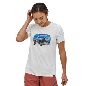 Tricou Femei Patagonia Capilene Cool Daily Graphic Shirt White (Alb)