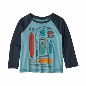Bluza Casual Copii Patagonia Baby Capilene Cool Daily Crew Multicolor