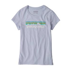 Tricou Drumetie Copii Patagonia Girls' Pastel P-6 Logo Organic T-Shirt Beluga (Mov)
