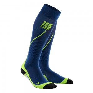 Sosete Compresie CEP Progressive+ Compression Run 2.0 W Bleumarin / Verde