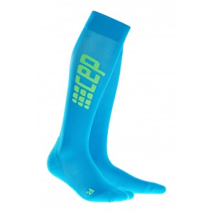 Sosete Compresie CEP Progressive+ Ultralight Compression Run W Bleu / Verde