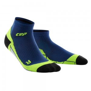 Sosete Alergare CEP Dynamic+ Run Low-Cut W Bleumarin / Verde