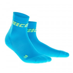 Sosete Alergare CEP Dynamic+ Run Ultralight Short W Bleu / Verde