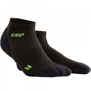 Sosete Alergare CEP Dynamic+ Run Ultralight Low-Cut M Negru / Verde