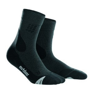 Sosete Compresie CEP Dynamic+ Outdoor Mid-Cut M Gri / Negru