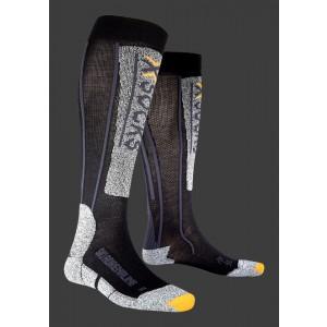 Sosete Schi X-Socks Ski Silver Adrenaline Negre/Gri