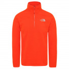 Polar Drumetie Barbati The North Face 100 Glacier 1/4 Zip Acrylic Orange (Portocaliu)