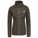 Geaca Drumetie Femei The North Face Thermoball Full Zip New Taupe Green (Kaki)