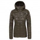 Geaca Drumetie Femei The North Face Thermoball Eco Hoodie New Taupe Green (Kaki)