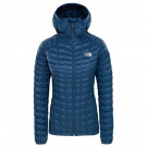 Geaca Drumetie Femei The North Face Thermoball Sport Hoodie Blue Wing Teal (Albastru)