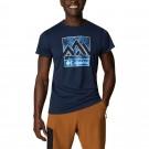 Tricou Drumetie Barbati Columbia Zero Rules Short Sleeve Graphic Shirt Albastru