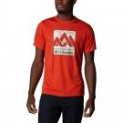 Tricou Drumetie Barbati Columbia Zero Rules Short Sleeve Graphic Shirt Rosu