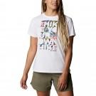 Tricou Drumetie Femei Columbia Sun Trek SS Graphic Tee Alb