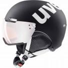 Casca Ski si Snowboard Unisex Uvex Hlmt 500 Visor Black-White Mat (Negru)